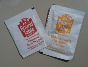 Round Table Pizza Condiments