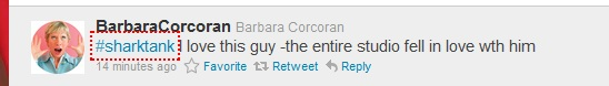 Barbara Corcoran Tweet about Aldo Orta from Shark Tank